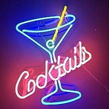Neon Signs Cocktails Beer Bar Bedroom Home Neon Light Handmade Glass Neon Lights Sign for Bedroom Office Hotel Pub Cafe Re...