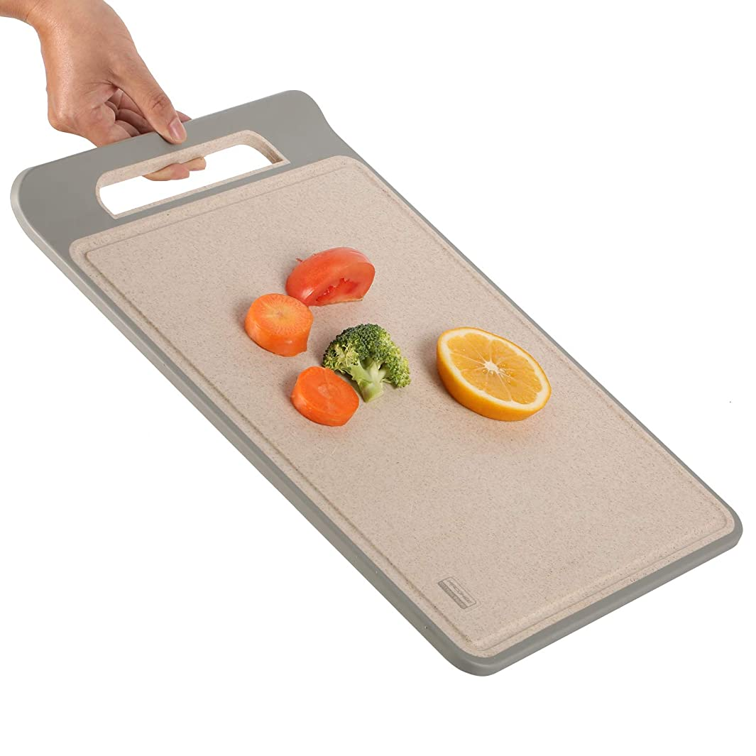 Cutting Board for Kitchen | Antimicrobial, No Slip | Large Chopping Boards w/ Easy-Grip Handle n' Juice Grooves | Best Cutting Boards by Maconee USA