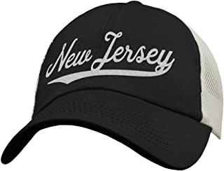 3614b547b9d State of New Jersey Trucker Hat Baseball Cap - Snapback Mesh Low Profile  Unstructured Sports -