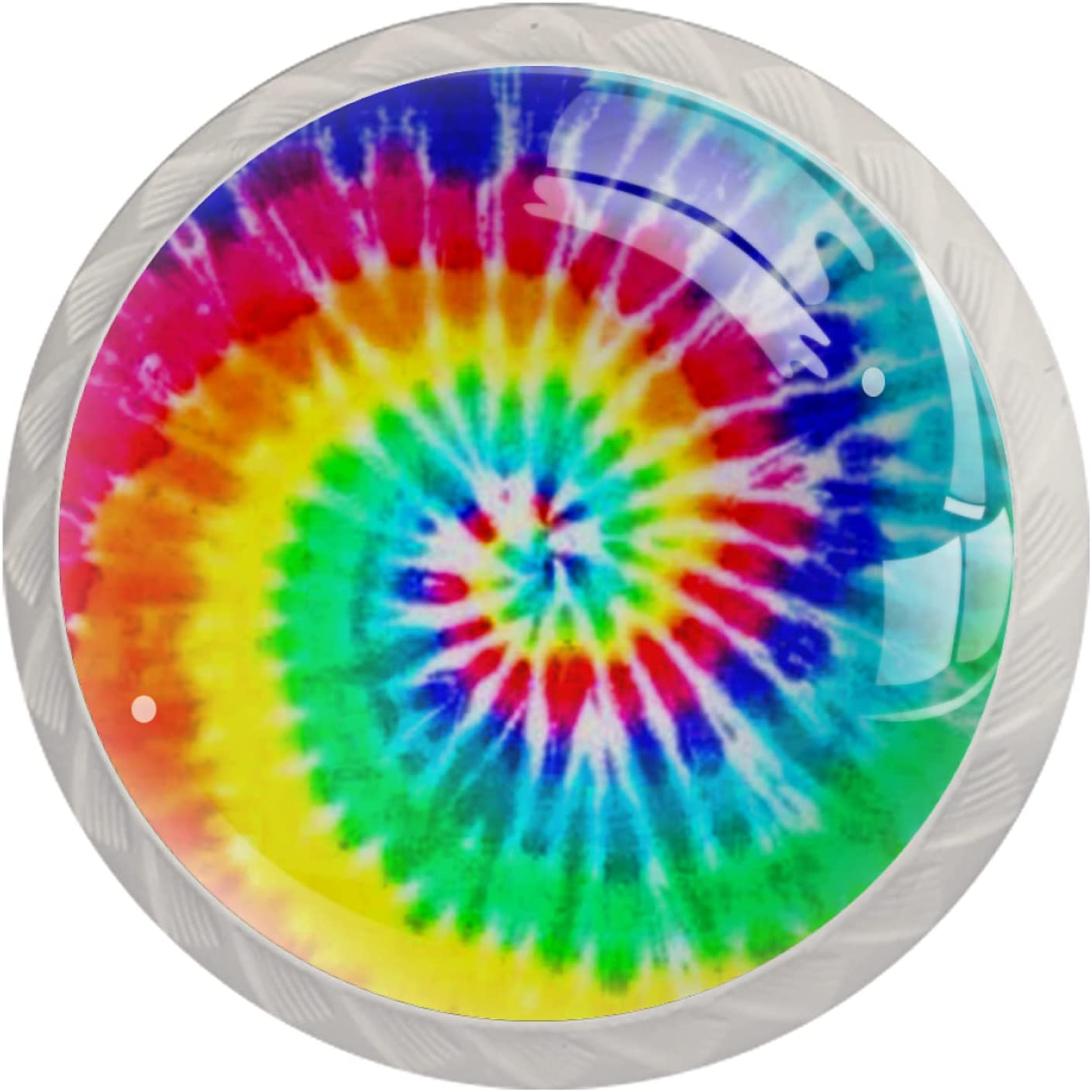 Round Cabinet Hardware Clearance SALE! Limited time! Knob 4 Pack 1 Dye Swirl Rainbow Seasonal Wrap Introduction - Tie