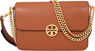 Chelsea Ladies Small Brown Leather Crossbody Bag