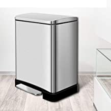 AINIYF Stainless Steel Pedal Container Mute Trash Can Kitchen Hotel Home Nordic Living Room Office 20L