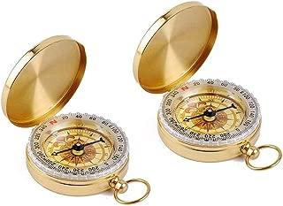 gold pocket compass