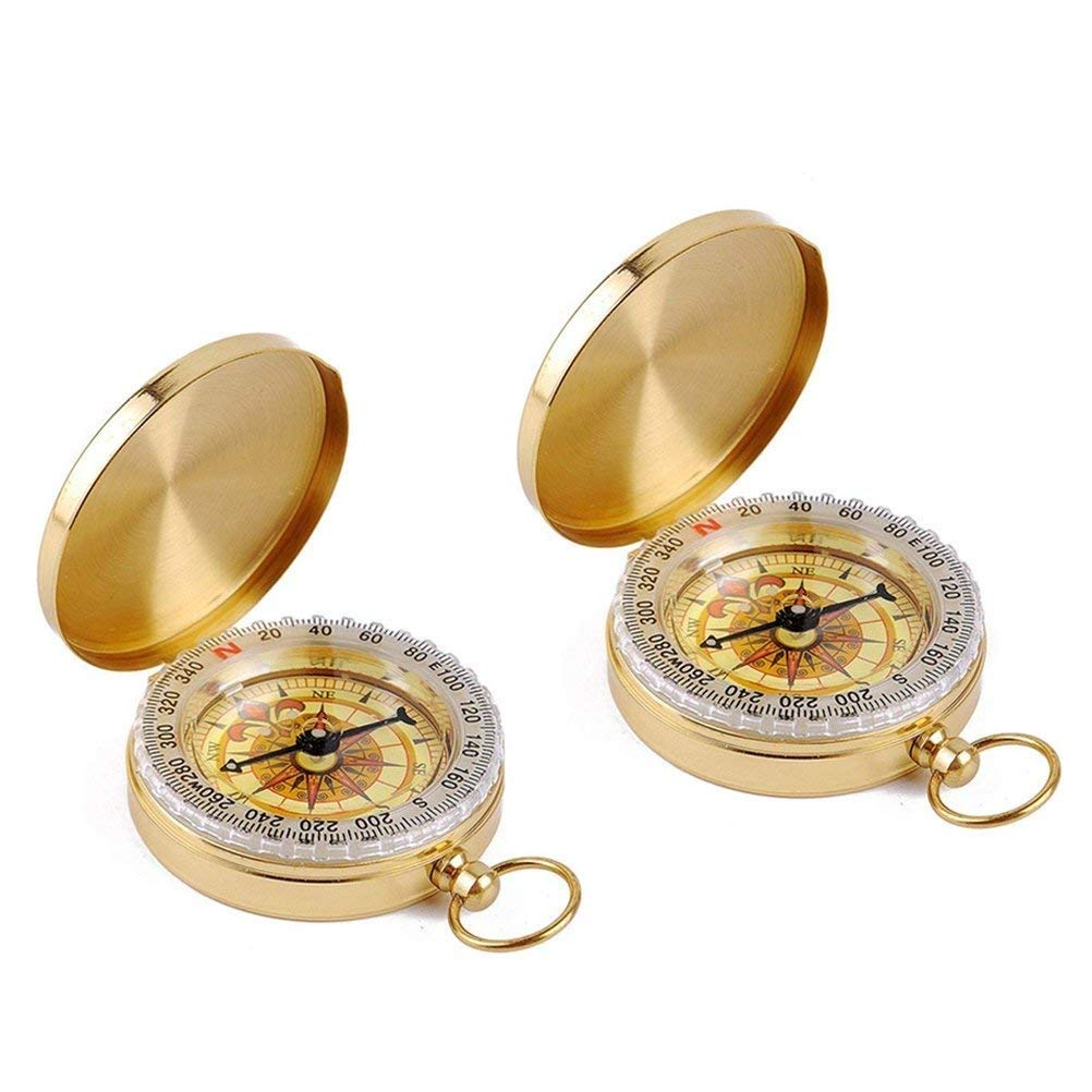 Tebery Copper Clamshell Compass Waterproof
