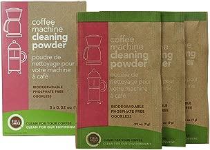 Full Circle Coffee Machine Cleaner - Cleaning Powder - 3 Single Use Packets - Safe on Keurig Delonghi Nespresso Ninja Hamilton Beach Mr Coffee Braun