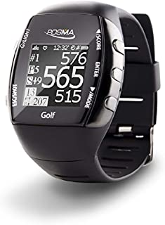 POSMA New GM2 Golf Fitness GPS Watch - Range Finder - Activity Tracker with Built-in Green Light Heart Rate Monitor, Bluetooth Android iOS app to Connect with Smartphone and iPhone