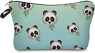 Unique Super Funny Makeup Bag, 3D Printing Women Girls Baby Collection Pouch Travel Case Cosmetic Makeup Bag Multi-function Pencil Holder (Cute Pandas)