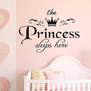 Iuhan The Princess Sleep Here Decal Living Room Bedroom Vinyl Carving Wall Decal Sticker