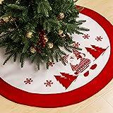 GIGALUMI Gonna per Albero di Natale 90cm Tappetino per Albero di Babbo Natale Copertura per Albero Base per Decorazioni Natalizie Ornamenti Decorazioni Natalizie (Bianco)