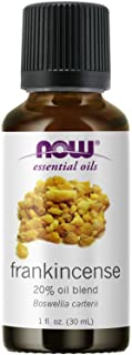 NOW Essential Oils, Frankincense Oil Blend, 20% Blend of Pure Frankincense Oil in Pure Jojoba Oil, Centering Aromatherapy ...