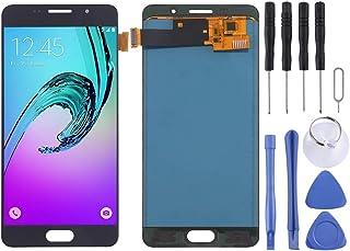 SPAREPARTSGALAXYGAOPES Pantalla LCD y ensamblaje Completo del digitalizador (Material TFT) For Galaxy A5 (2016) / A510 (Color : Black)