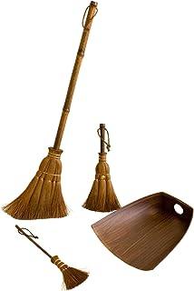 Big Palm broom, Small broom, Table broom and Dustpan, 4 piece set