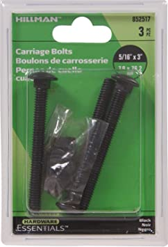 Hillman 832570 Stainless Steel Carriage Bolt 50-Pack 5//16 x 2-Inch