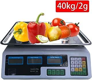 LCAZR Balanza de sobremesa 40kg/2g, Balanza Cuentapiezas Industrial, Bascula Digital Balanza Digital Electronica para Comercio Pesa Frutera