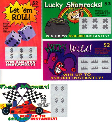 TheGag Fake Lottery Tickets - Total of 6 Tickets Per Order - Each Ticket a Fake Winner!