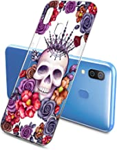 Oihxse Clair Crystal Soft Silicone Compatible pour Samsung Galaxy A70/A70S Coque Transparente TPU Crâne Rose Motif Design ...