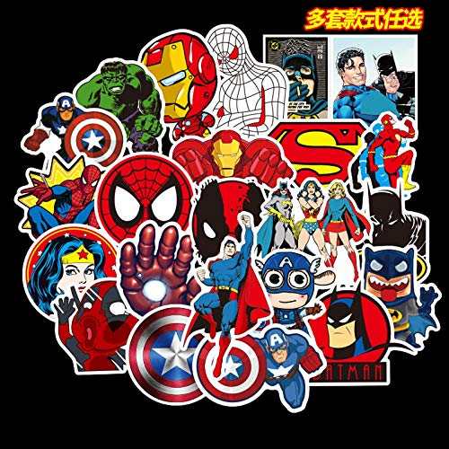 WYDML Spider-Man Hero League Pegatina para Equipaje Pegatina Impermeable Marca Marea Palanca Caja Maleta Pegatina Impermeable 50 Uds