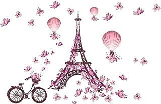 Ruiting El Papel para Pared Torre Eiffel Pared del Sitio de la Torre de París de la Mariposa Pegatina de Pared Creativo de la Etiqueta de Estar Niños extraíble