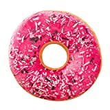 GIVEKI Coussin en Forme de Donuts 40 cm, Coussin de siège rembourré et moelleux en peluche douce Housse de coussin doux Donut Toys