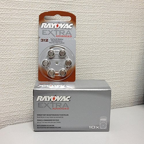 Rayovac 312 Battery 10-Packs of 6 Cells by