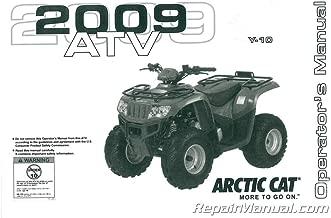 2258-278 2009 Arctic Cat 90 DVX 90 Utility ATV Owners Manual