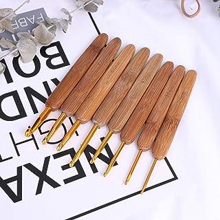 FGHOMEAQZB 1 poignée en Bambou Crochet Crochet Laine Crochet Bricolage Outil à Tricoter à la Main-Golden_1mm