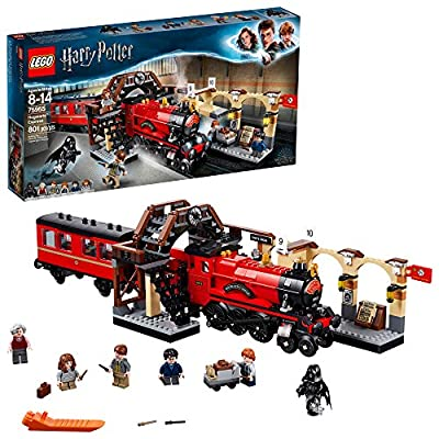 LEGO Harry Potter Hogwarts Express 75955 Toy Train Building Set includes Model Train and Harry Potter Minifigures Hermione Granger and Ron Weasley (801 Pieces) by LEGO
