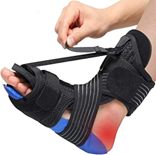 Plantar Fasciitis Night Splint Ankle Brace withCold Pack Massage BallElastic Band for Arch Support Achilles Tendonitis Relief