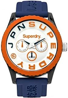 Superdry Men's QuartzTokyo Multi Men's Analog Quartz Watch with Blue Silicone Strapanalog Display and Silicone Strap, SYG170UO