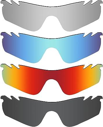 1e46fcc59d MRY 4 Paires polarisées Lentilles de Remplacement pour Oakley Radarlock  Path Vented Sunglasses-Stealth Noir