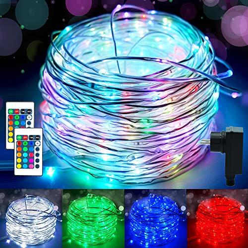 20m LED Schlauch Lichterkette Außen, Lichtschlauch Innen mit 200 LED, 16 Farben 4 Modi Wasserdicht Lichterschlauch Outdoor mit für Stecker Halloween Weihnachten Weihnachtsbaum Zimmer Garten Terrasse