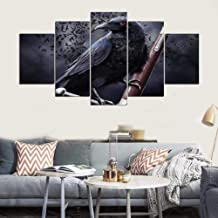 YHEGV In Prints On Canvas Canvas Painting Abstract 5 Panel Bird Landscape Home Decoration Modern Wall Decor For Living Room B1 Frameless