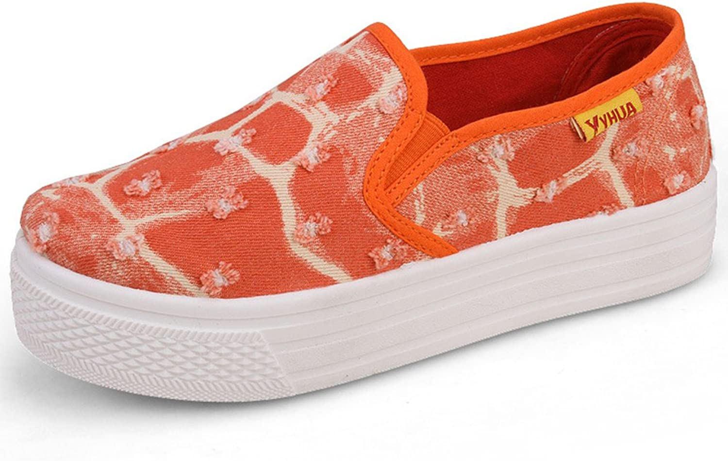 BININBOX Womens Girls Canvas shoes Casual Slip-On shoes Platform shoes