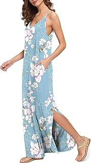 Vestido de Playa Bohemio Casual de Verano para Mujer Cami Vestidos Largos de Boho