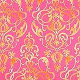 Gold Damast Stil auf Pink führenden Marke 100% Baumwolle