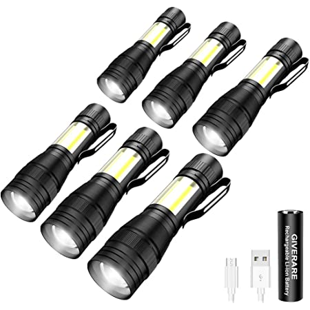 Rechargeable Q5 LED Tactical USB Flashlight Torch Zoom Portable Lightings /_