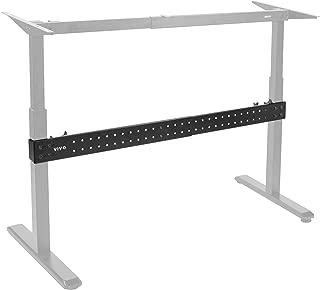 VIVO Black Universal Steel Clamp-on Desk Stabilizer Bar | Bracket Support System for Sit to Stand Desk Frames (DESK-STB01B)
