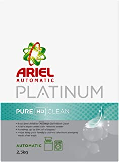 Ariel Automatic Platinum Laundry Powder Detergent Pure HD Clean 2.5 kg