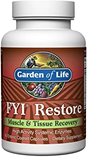 Sponsored Ad - Garden of Life Systemic Enzymes - FYI Restore for Muscle and Tissue Recovery, 60 Capsules