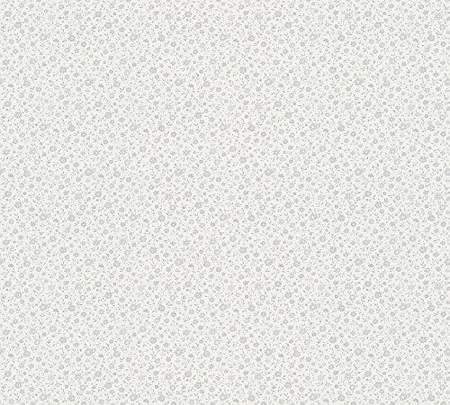 A.S. Création Vliestapete Liberté Tapete Landhaus Shabby Chic 10,05 m x 0,53 m grau metallic weiß Made in Germany 305253 30525-3