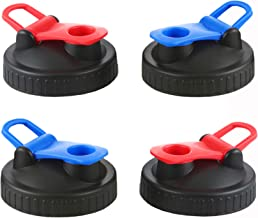 4pcs Pack Wide Mouth Mason Jar Flip Cap Lid for Ball & Kerr Mason Jar, Great for Drinking & Food Storage