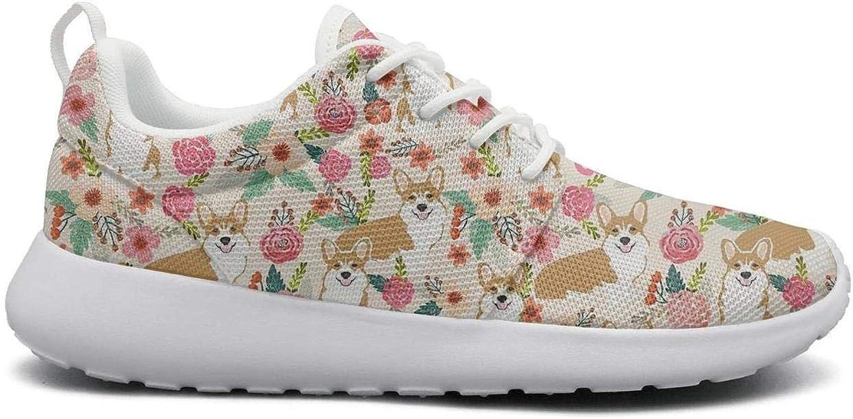 af6c17ff8760a Ipdterty Wear-Resistant Sneaker Cute Corgi Spring Floral Nature ...