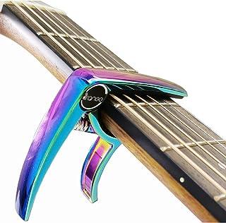 Premium Colorful Rainbow Guitar Capo for Electric and Acoustic Guitars, Ukulele Banjo, Folk Guitars and Mandolin