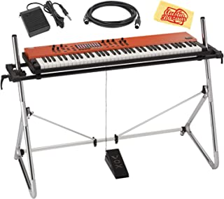 Vox Continental 73-Key Performance Synthesizer Bundle with Stand, Midi Cable, Expression Pedal, Deluxe Sustain Pedal, Power Adapter, and Austin Bazaar Polishing Cloth