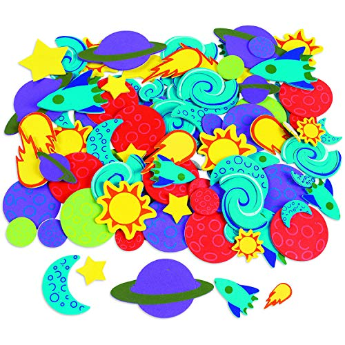 Fabulous Foam Adhesive Space Shapes - Crafts for Kids and Fun Home Activities
