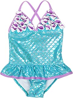 Floatimini Infant, Toddler and Little Girls' Mermaid Petal Signature One-Piece Swimsuits Beach Bathing Suit