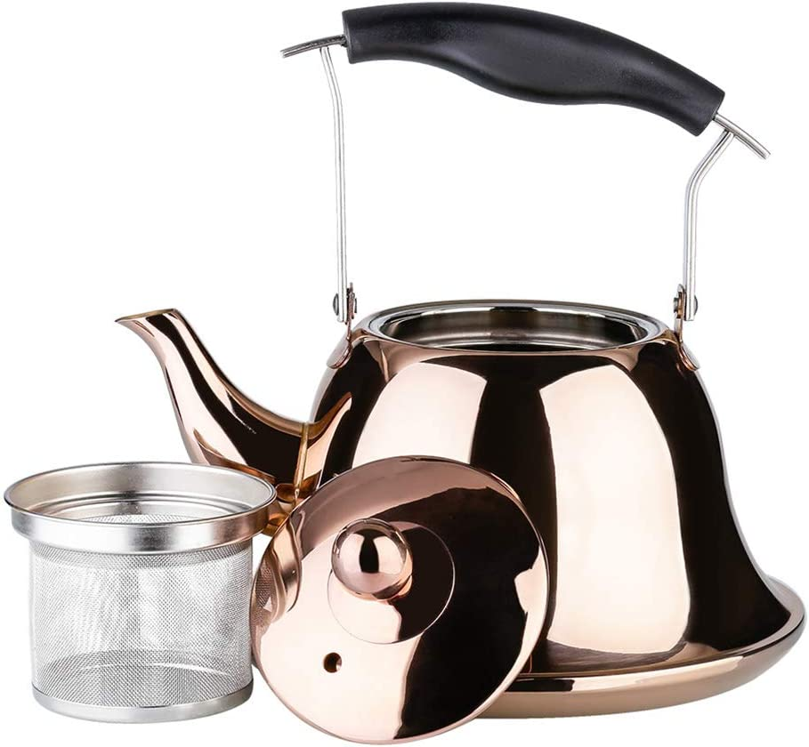OMGard Whistling price Tea Kettle with Stainless Loose Store Infuser Leaf St