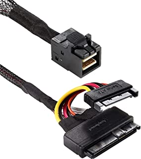 Funtin U.2 (SFF-8639) to HD Mini-SAS (SFF-8643) Cable Support All Vendor's 2.5'' NVMe SSD, Manufactured by Amphenol (Renewed)