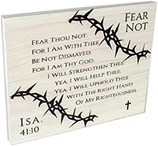 Spirit & Truth Home Decor Wall Art Cornered Fear Not Crown of Thorns Sign Plaque with Deep Sink Print and Shine Finish 22....