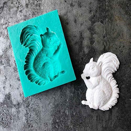 KsimYa Eichhörnchen Silikonform DIY Fondant Kuchenform weiche Süßigkeiten Form Backutensilien